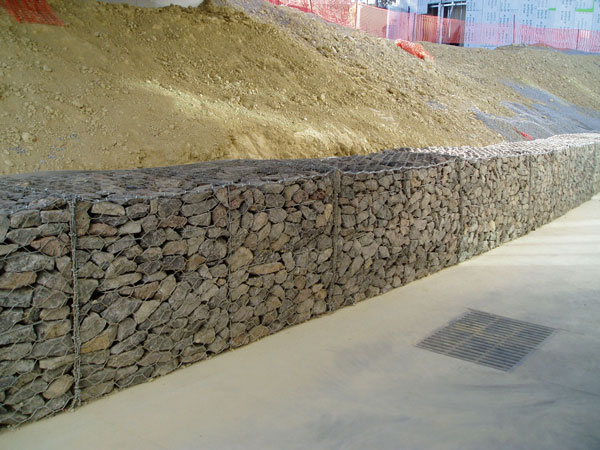 60×80 Mm Pvc Coated Gabion Baskets Gabion Mattress For Embankment / Dike